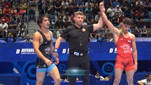 پیروزی امیرمحمد یزدانی در دور اول وزن 65 کیلوگرم