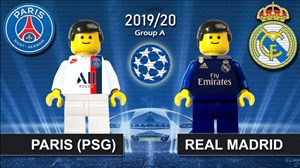 شبیه سازی بازی پاری سن ژرمن - رئال مادرید با عروسک لگو
