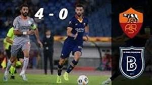 خلاصه بازی رم 4 - 0 باشاک شهیر