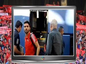 ورود بازیکنان و کادر فنی تراکتور به ورزشگاه یادگار امام