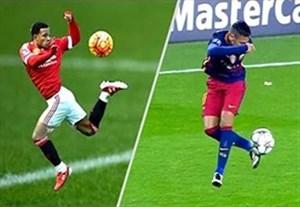 کنترلها و تکنیک های دیدنی در فوتبال