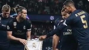 حرکت عجیب بیل و پس زدن پرچم رئال مادرید