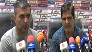 کنفرانس خبری پس از بازی نساجی - شهرداریبوشهر