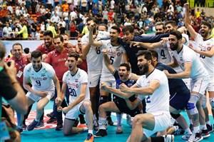 مراسم کامل اهدای جام به تیم ملی والیبال ایران