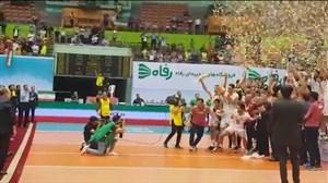 بالا بردن جام قهرمانی توسط تیم ملی از دوربین ورزش سه