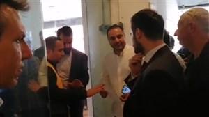 ورود سفیر کشور ایتالیا به جایگاه vvip ورزشگاه آزادی