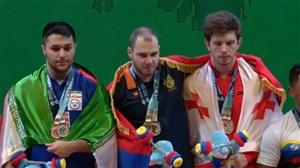 اهدای مدال برنز دو ضرب و نقره مجموع به علی میری
