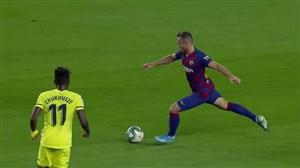گل دوم بارسلونا به ویارئال با سوپر گل آرتور ملو