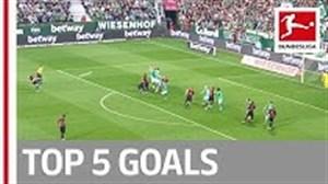 5 گل برتر هفته پنجم بوندسلیگا 20-2019