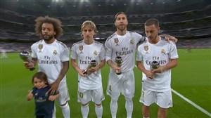 رونمایی بازیکنان رئال مادرید از جوایز فردی فیفا