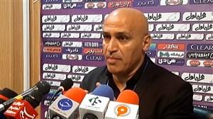 کنفرانس خبری علی منصوریان پس از تساوی مقابل استقلال