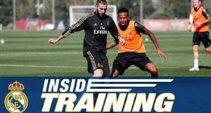 تمرینات رئال مادرید برای دیدار با اتلتیکو