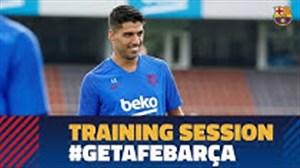 آخرین تمرین و سفر بارسلونا برای تقابل با ختافه