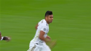 گل دوم رئال مادرید به کلوب بروژ (کاسمیرو)