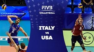 خلاصه والیبال ایتالیا 1 - آمریکا 3