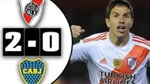 خلاصه بازی ریورپلاته 2 - بوکاجونیورز 0 (کوپا لیبرتادورس)
