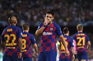 گل دوم بارسلونا به اینتر (دبل سوارز)