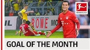10 گل برتر بوندسلیگا در ماه سپتامبر 2019