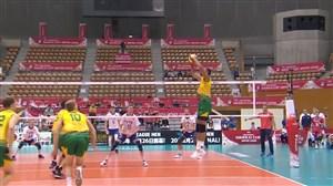 خلاصه والیبال روسیه 2 - استرالیا 3 (جام جهانی)