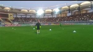 جو فوق العاده ورزشگاه امامرضادرآغاز بازی شهرخودرو-پرسپولیس