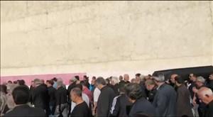 مراسم تشییع پیکر جعفر کاشانی از محل باشگاه شاهین