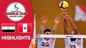 خلاصه والیبال مصر 2 - کانادا 3 (جام جهانی)