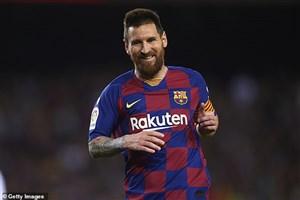 گل چهارم بارسلونا به وایادولید (لیونل مسی)