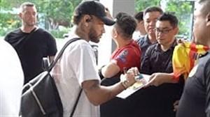 ورود بازیکنان تیم ملی برزیل به کشور سنگاپور