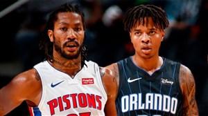 خلاصه بسکتبال اورلاندو مجیک - دیترویت پیستونز