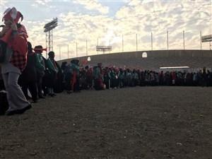 مسیر ورودی بانوان به ورزشگاه آزادی