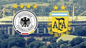 اعلام ترکیب اصلی دو تیم ملی آلمان و آرژانتین