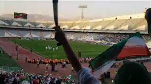 گل اول ایران از جایگاه بانوان ورزشگاه آزادی
