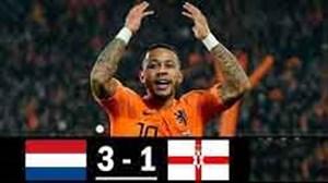 خلاصه بازی هلند 3 - 1 ایرلندشمالی