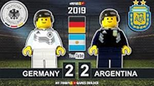 شبیه سازی بازی آرژانتین - آلمان با لگو