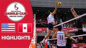 خلاصه والیبال آمریکا 3 - کانادا 2