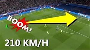 قدرتمند ترین ضربه ایستگاهی زن های فوتبال جهان