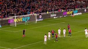 گل اول نروژ به اسپانیا توسط جاشوآ کینگ (پنالتی)