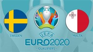 خلاصه بازی مالت 0 - سوئد 4 (مقدماتی یورو)