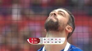 خلاصه والیبال ایتالیا 2 - کانادا 3