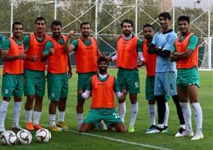 لحظاتی از تمرین تیم ملی پیش از سفر به بحرین