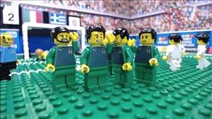 شبیهسازی پیروزی ایتالیا برابر یونان با لگو