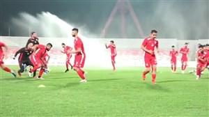 تمرین تیم ملی بحرین پیش از تقابل با ایران