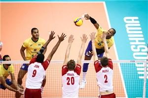 خلاصه والیبال برزیل 3 - لهستان 2