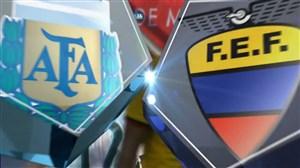 خلاصه بازی آرژانتین 6 - 1 اکوادور (دوستانه)