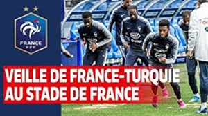 تمرینات آماده سازی تیم ملی فرانسه