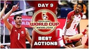 برترین حرکتهای جام جهانی والیبال در روز نهم مسابفات