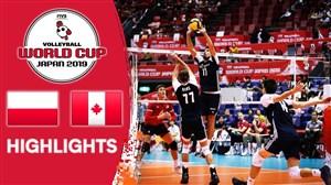 خلاصه والیبال لهستان ۳ - کانادا ۰ (جام جهانی)