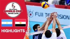 خلاصه والیبال آرژانیتن ۳ - مصر ۱ (جام جهانی)