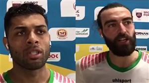 صحبت های سعید پیرامون و اکبری بعد از برد سنگال