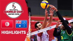 خلاصه والیبال تونس 0 - استرالیا 3 (جام جهانی)